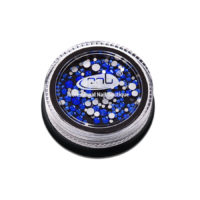 Rhinestones glass PNB Blue mix size