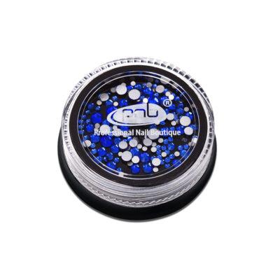 Rhinestones glass PNB Blue mix size