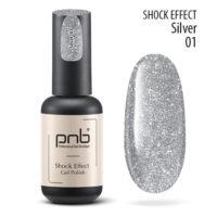 Ημιμόνιμο βερνίκι PNB SHOCK EFFECT, SILVER 01