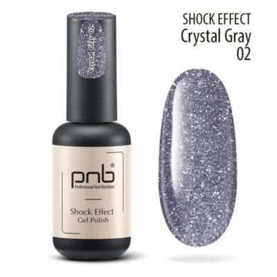 Ημιμόνιμο βερνίκι PNB SHOCK EFFECT, CRYSTAL GRAY 02