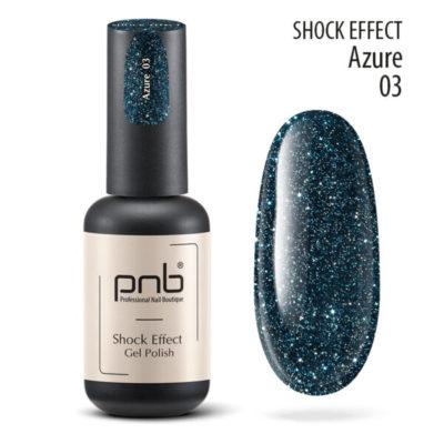 Ημιμόνιμο βερνίκι PNB SHOCK EFFECT,AZURE 03