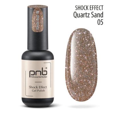 Ημιμόνιμο βερνίκι PNB SHOCK EFFECT,QUARTZ SAND 05
