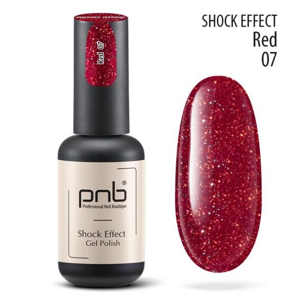 Ημιμόνιμο βερνίκι PNB SHOCK EFFECT,RED 07