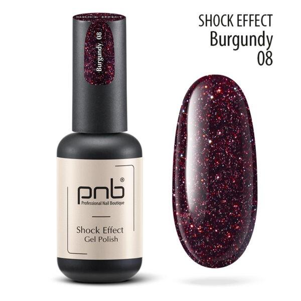Ημιμόνιμο βερνίκι PNB SHOCK EFFECT, BURGUNDY 08